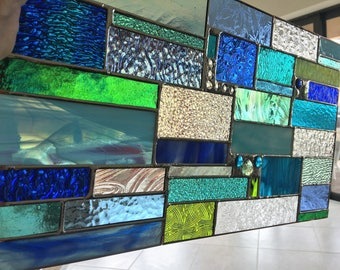 Available NOW Sea Glass Ocean Stained Glass Window
