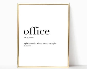 SALE -50% Office Quote Definition Print, Funny Work Decor, Digital Print Instant Art INSTANT DOWNLOAD Printable Wall Decor