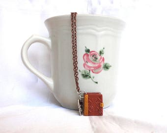 Book Necklace- Miniature Story Book Necklace- Tiny Book