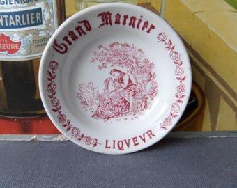 Vintage French Bistro advertising  GIEN saucer GRAND MARNIER