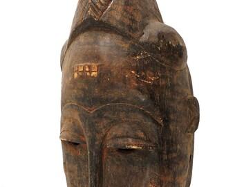 Baule Portrait Mask Cote d'Ivoire African Art 94491