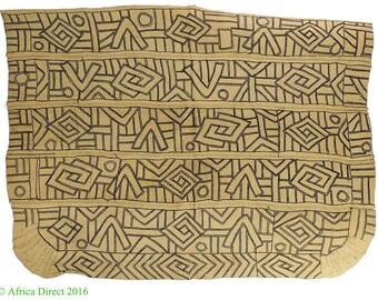 Kuba Raffia Textile Handwoven Congo African Art 3 Feet 106425