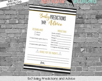baby shower games printable baby predictions stats advice 292 wild things stripes teepee digital gender sprinkle rustic chic navy gold mint