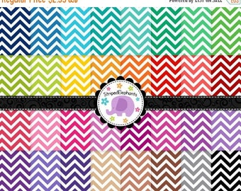 40% OFF SALE Chevron Digital Papers White Medium, chevron digital scrapbook paper, chevron digital background, Commercial Use