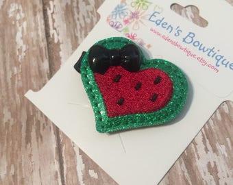 Watermelon Feltie, Watermelon Bow, Baby Bows, Infant Headbands and Bows, Baby Headband, New Baby Gift, Watermelon Headband, Baby Shower Gift