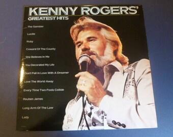Kenny Rogers Greatest Hits Vinyl Record LP LOO-1072 Liberty Records 1980
