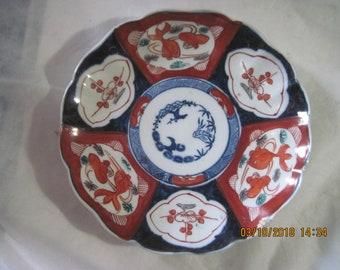 Antique Japanese Imari Porcelain Plate Bowl