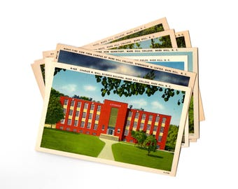 10 Vintage Mars Hill College North Carolina Vintage Unused Postcards