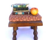 Reserved for Matt Lipkin/CHUNKY VINTAGE FOOTSTOOL