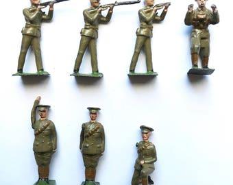 Vintage British WW1 lead soldiers.