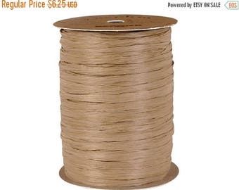 GLAMSALE Natural Kraft Brown Raffia Ribbon, Rafia Ribbon for Wedding Favors, Packaging Rafia for Gifts, Party Favors, Party Decor - 100 yds.