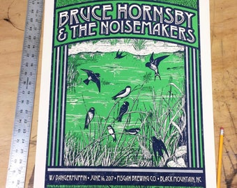 Bruce Hornsby & The Noisemakers Official Screen Printed Limited Edition Poster