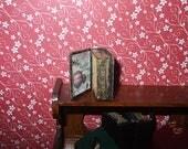 Dollhouse Miniature Open Secret Book Box, scale 1/12
