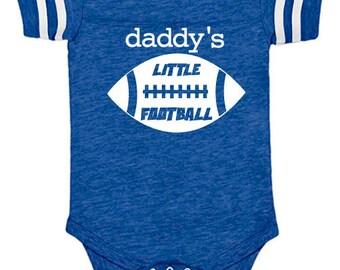 Daddy's Little Football Sports Fanatic Baby Bodysuit