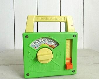 Fisher Price Tote-A-Tune Radio 80s Walt Disney Toyland Vintage Radio Music Box Number 795