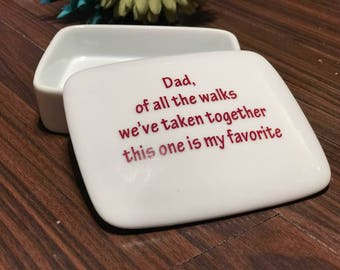 Father of the Bride Gift-from-Daughter | Square Keepsake Box | Father of the Bride | Gift-from-Daughter