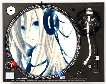 Headphone Girl Anime - DJ slipmat