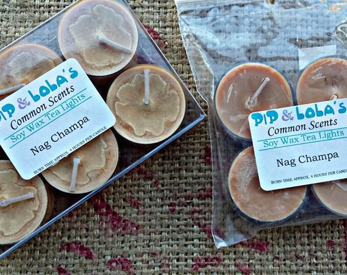 Nag Champa Tea Lights - Pip & Lola's Common Scents - Soy Candle Wax, Tea Lights, Soy Wax, EcoSoy, Candle, Lightly Scented