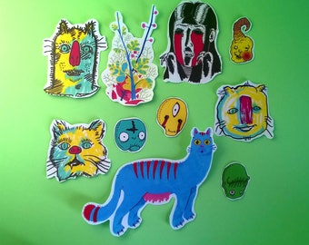 random pack of 10 stickers
