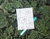 Tiny Sketchy Sketch Original Succulent Drawing