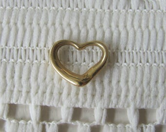 Vintage Tiffany 18k Gold Heart Pendant