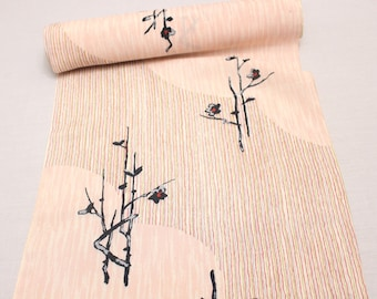 Japanese Vintage Kimono Silk Fabric. Full Bolt Available (Ref: 1574)