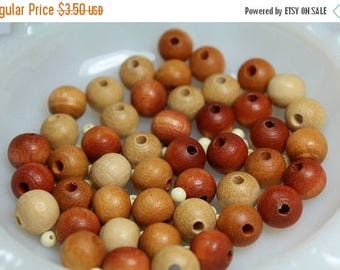 SUMMER SALE Destash  Craft Lot of  Vintage   Salvaged Wood Beads in Various Shades