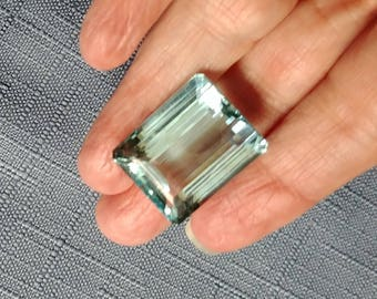Aquamarine 34.72 Carat Weight Loose Gemstone with Appraisal and Authentication March Birthstone Layaway Available