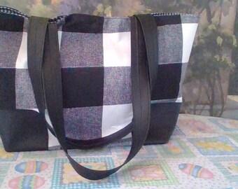 Black Checkered Purse