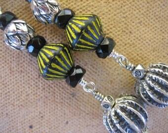 15%off AFRICAN TRIBAL EARRINGS boho chic artisan earrings long drops