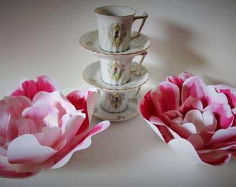 Paper flower decorations, Set of 2 paper flowers, table decor, wedding decor, nursery decor, baby shower decor, flower backdrop