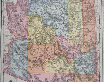 Arizona Map Etsy - Az map