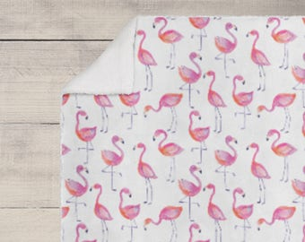 Flamingo Fun in Pink and Purple  - Choose from Boppy Cover + Changing Pad Cover + Crib Sheet + Rail Cover + Crib Skirt or Blanket
