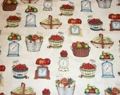 Vegetable  Fabric, Garden Fabric, By The Yard, Maywood Studio, From The Farm Collection, Quilting Sewing Fabric, Novelty Fabric, Country