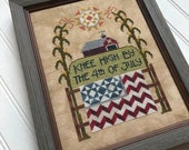 NEW! HANDS ON DESiGN Knee High counted cross stitch patterns at thecottageneedle.com 4th of July Indpendence Day