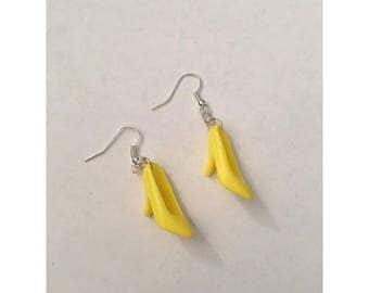 Yellow Barbie Shoe Earrings