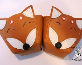 SECONDS Orange Leather Foxes Roller Derby Skates Toe Guards