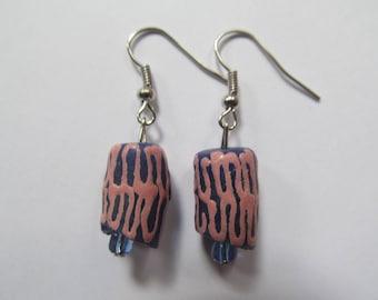 Pink & Blue Tribal Earrings