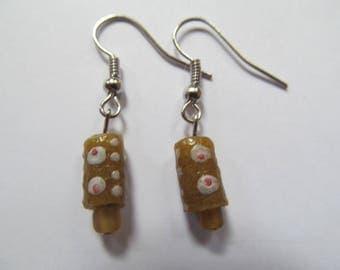 Small Brown Earrings