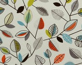 Kathleen custom order TAB TOP Panels Mod LEAVES  Print med. weight designer  Cotton