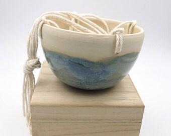 Blue Hanging Planter. Small Ceramic Planter. Blue Pottery. Indoor Planter