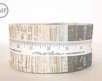 Modern Background Luster Jelly Roll, Brigitte Heitland, Zen Chic, Moda Fabrics, Pre-Cut Fabric Strips, 1610JRM