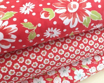 Coney Island Fabric Bundle of 3 in Candy Apple Red, by Fig Tree Quilts of Moda Fabric, Select your Size Bundle