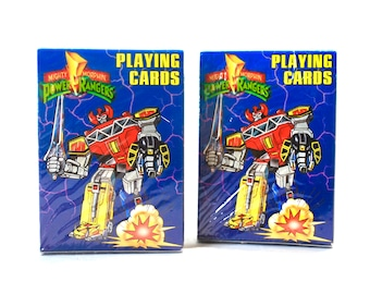 Power Rangers Playing Cards Old Stock Still Sealed