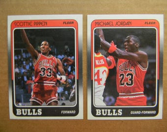 143 NBA SPORTS CARDS, 1988-89 Fleer Basketball Set with Stickers, 132 Cards plus 11 Sticker Cards