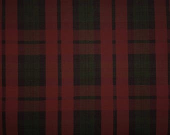 Red Green Christmas Plaid 58W 100% Brushed Cotton