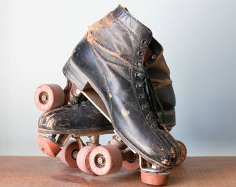 Pair of Vintage Chicago Skate Roller Skates with 76P Clay Wheels