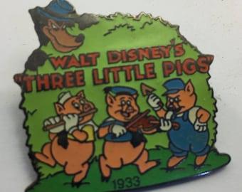 Walt Disney Collector Pin Walt Disney's Three Little Pigs 1933 Limited Edition lot 82