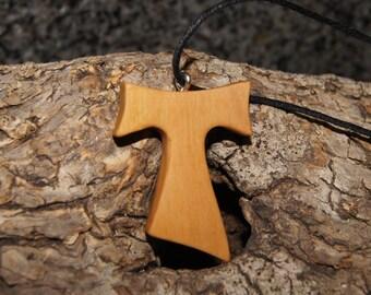 Tau cross - Olive wood