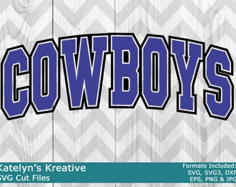 Cowboys Arched SVG Files